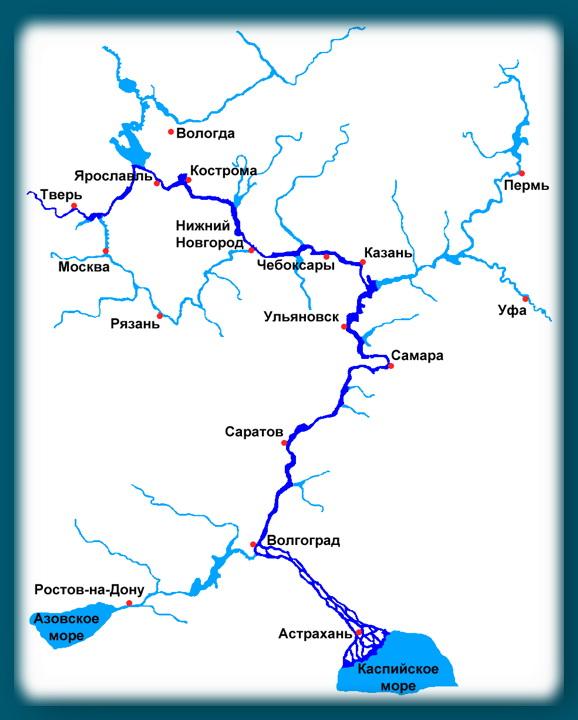Карта Волги