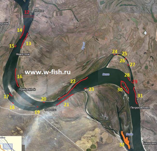 рыболовные базы в енотаевке на карте